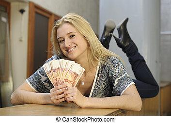 leány, noha, pénz