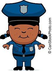 leány, rendőrség tiszt