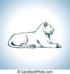leão, desenho