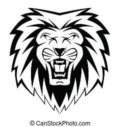 leão, rosto