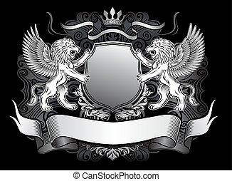 león alado, emblema