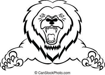 león, atacar