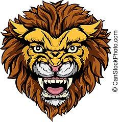 león, mascota