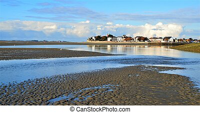 Le Crotoy Baie de Somme - Vue / view of Le Crotoy in the...