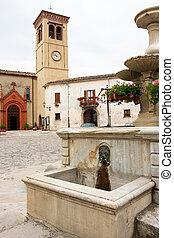 le, italie, endroit, village, marche, talamello, marché