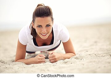 Le, kvinna,  fitness
