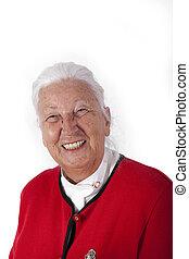 Le, kvinna,  Senior, lycklig
