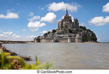 Le Mont Saint Michel in the region of Basse Normandie