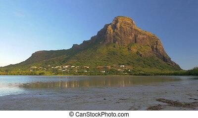 Le Morne Brabant mountain in Mauritius - Mauritius landscape...