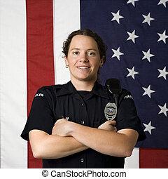 le, policewoman.