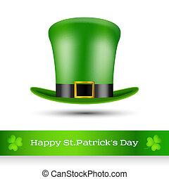 le, st., patrick's, cappello verde, giorno