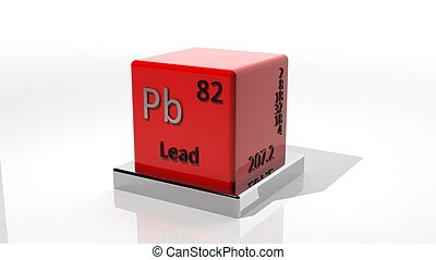 Lead, 3d chemical element of the periodic