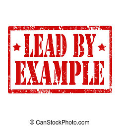 Lead By Example-stamp