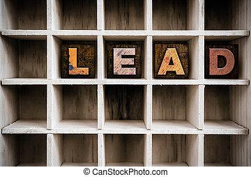 Lead Concept Wooden Letterpress Type in Drawer