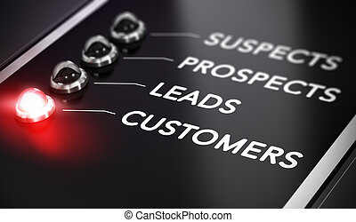 Lead Conversion - Illustration of internet marketing over...