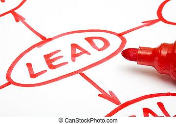 Lead flow chart