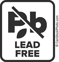 Lead Free symbol - Vector
