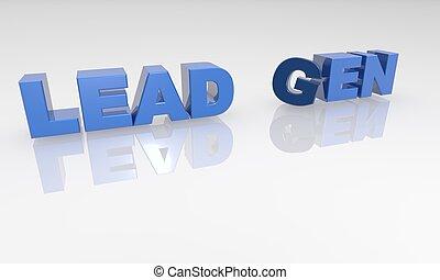 Lead Gen 3D Text - XXXL