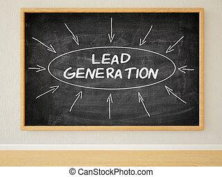 Lead Generation - 3d render illustration of text on black...