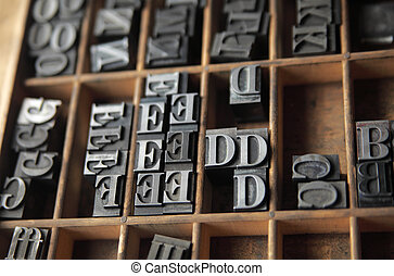 lead letterpress type