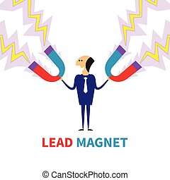 Lead magnet vector concept in flat style