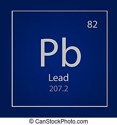 lead Pb chemical element icon