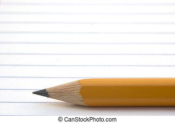 Lead pencils on a white piece of paper