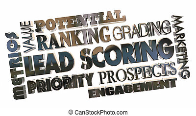Lead Scoring Sales Prospects Best Top Priority Word Collage 3d Illustration