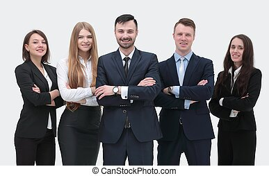 leader and successful business team