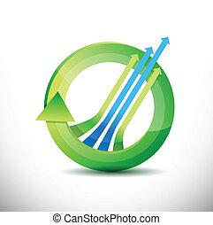 leader arrow 360 design concept illustration