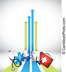 leader arrow medical concept
