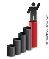 leader business graph illustration