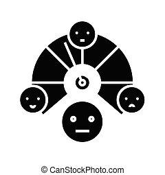Leader choice black icon, concept illustration, vector flat symbol, glyph sign.