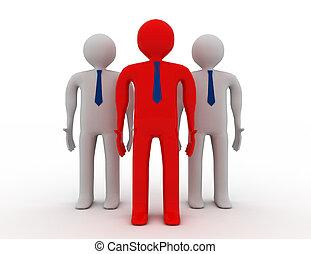 leader concept. 3d illustration on white background