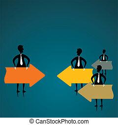 leader discuss to team