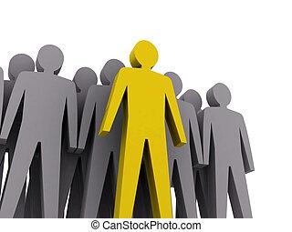 leader., firma, boss., mannschaft