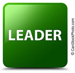 Leader green square button