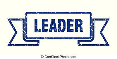 leader grunge ribbon. leader sign. leader banner