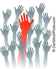 leader hand