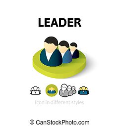 Leader icon in different style