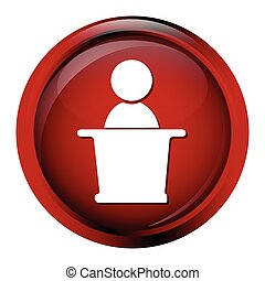 Leader icon on red button