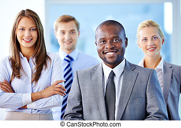 Leader of business team - Portrait of confident leader...