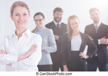 Leader of customer service team