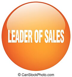 leader of sales orange round gel isolated push button