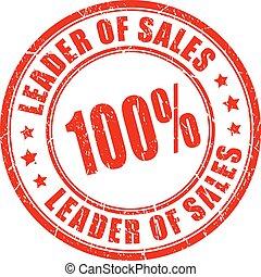 Leader of sales rubber stamp