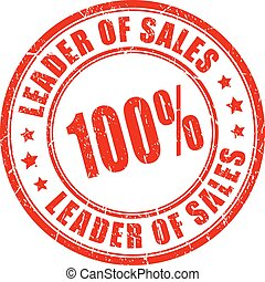 Leader of sales rubber stamp