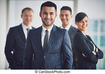 Leader of team - Portrait of confident business partners...