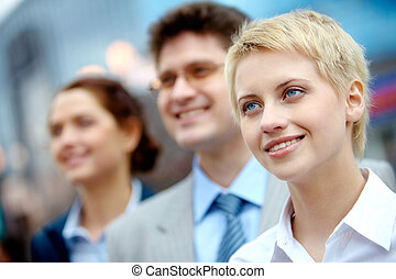 Leader of team - Portrait of confident partners looking...