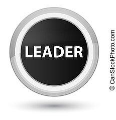 Leader prime black round button