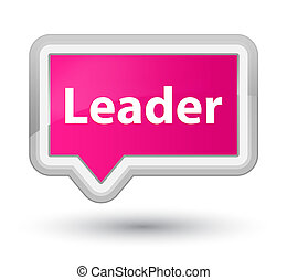 Leader prime pink banner button